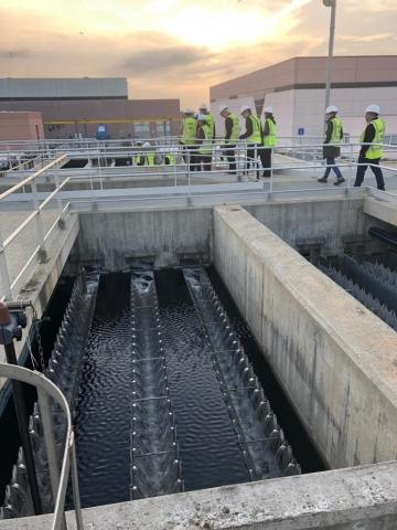Tour waterzuivering El Prat de Llobregat