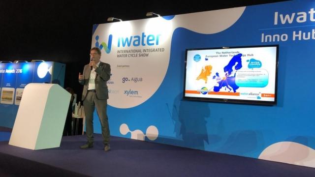 Hein Molenkmap on stage @ iWater Tech Hub