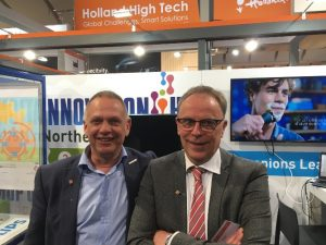 Portret Jan Post (links) en Hans Praat