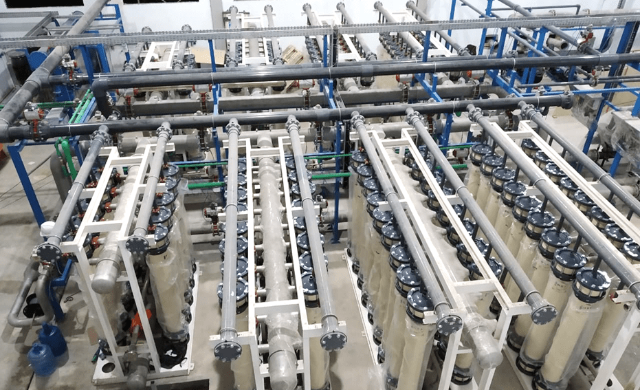 NX Filtration's membrane modules at a previous project for PT. Bayu for the production of drinking water for the city of Dumai in Indonesia